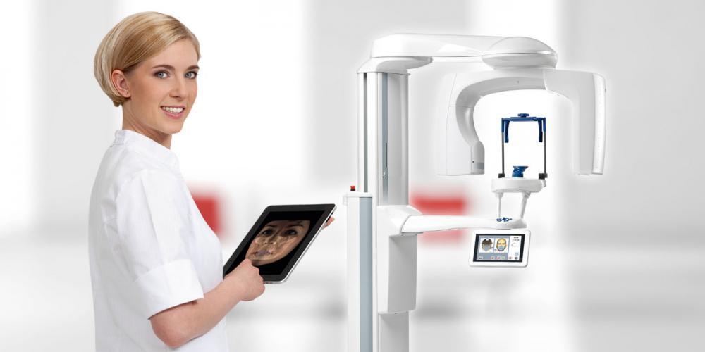 Панорамный снимок зубов с распечаткой на пленке и запись на СD диск